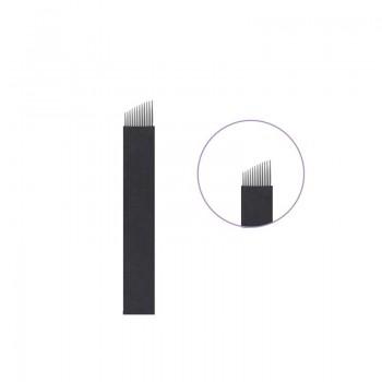 10 AGUJAS MICROBLADING 12 FLEX NANO 0.16MM TRAZO HIPERREALISTA