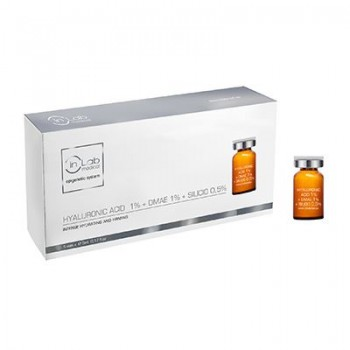 INLAB VIALES HYALURONIC ACID 1% DMAE 1% SILICIO ORG. 0,5% COCKTAIL 5X5ML