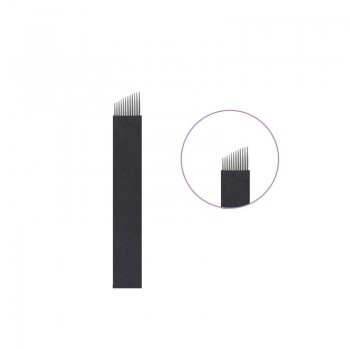 10 AGUJAS MICROBLADING 9 FLEX NANO 0.16MM TRAZO HIPERREALISTA