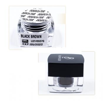 PIGMENTO EN GEL-PASTA BLACK BROWN (MARRON MUY OSCURO)ALTA FIJACIÓN MICROBLADING